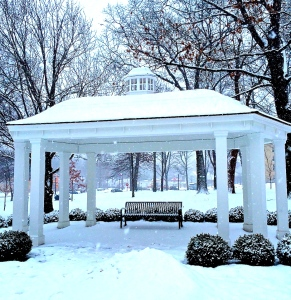 Part of the beautiful (but snowy) Kent State University