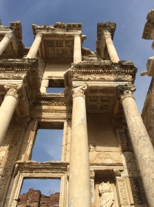 Here's the library at Ephesus.