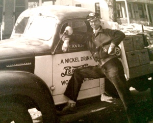 Dad loved driving his Pepsi truck.