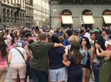 It's an understatement to say there are tourists in Florence!